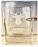 KolbergGlas Hunter-Jäger Geschenk-Trink Glas mit realem Geschoß cal.308 und Gravur -