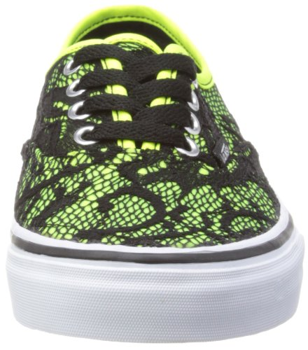 Vans U AUTHENTIC (WASHED) BLACK VVOE4JT Unisex-Erwachsene Sneaker Neon Yellow