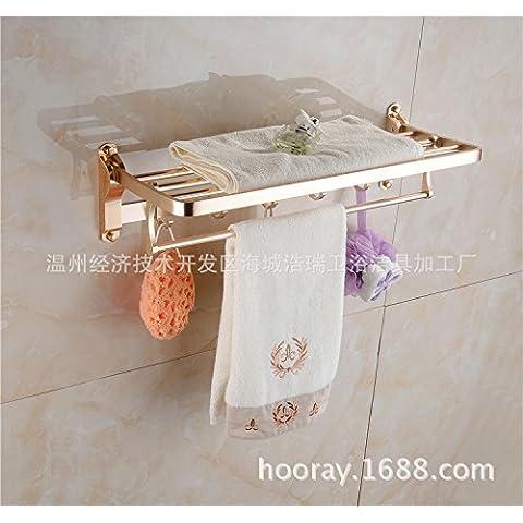 QUEEN'S Spessore bordo largo della salvietta spazio bagno in alluminio porta asciugamani bagno WC sospesi cremagliere luce,bagno Rack di storage tazze da wc a