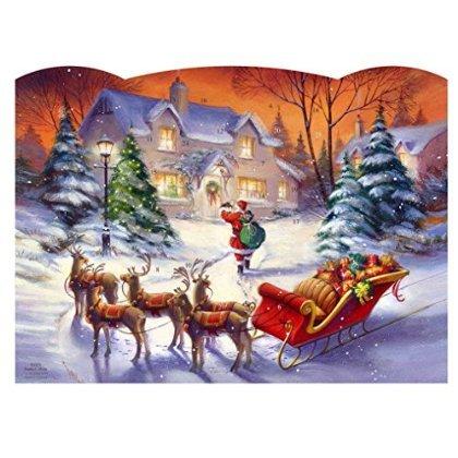 Santa Calling GLITTER Advent Calendar Z35-10