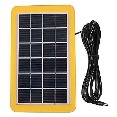Especificación: Panel solar Vatiaje: 3W Bulbos: 1W 110lm Salida USB: 5V 500mA Temperatura de color de bulbos: 6000-6500k Generador eléctrico Un panel solar se carga por un día (según el sol estándar de 5 horas). * 1 bombillas se iluminan por 10 hora...