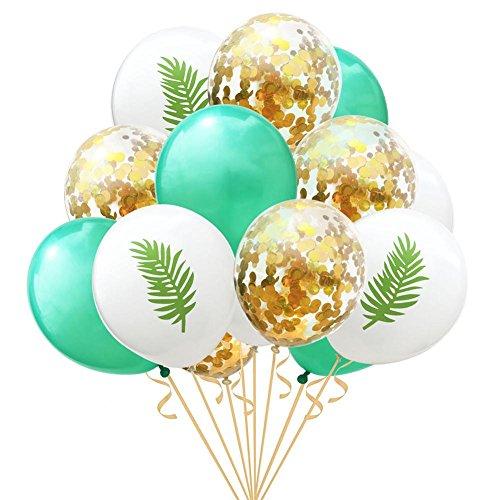 15 Stück 12 Zoll Flamingo Ananas Schildkröte Blatt Latex Ballons Konfetti Ballons Für Hochzeit Dekoration Geburtstag Weihnachten Hawaii Party Decor