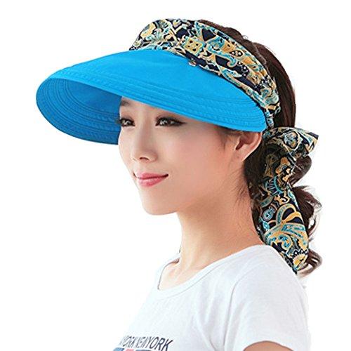 Yimidear Faltbare Sommer Sonnenhut Weiblicher Hut Baseball Kappe Frauen Anti-UV Hut (Blue)