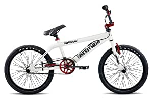 Rooster Attitude White with Red Freestyle Gyro BMX