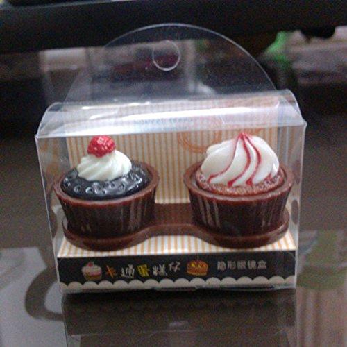 PRIMI Neuheit Kuchen Design unsichtbar Brillenetui Lovely Kuchen, Kontaktlinsenbehälter (Neuheit Kontaktlinsen)