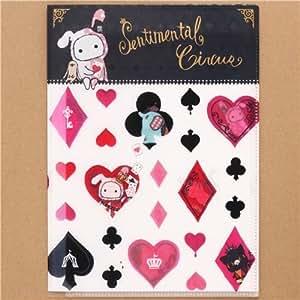 Dossier plastique A4 blanc à 4 pochettes Sentimental Circus