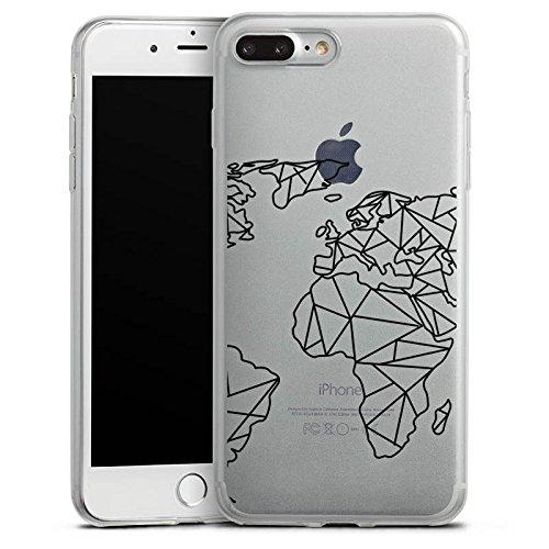 Apple iPhone 6s Slim Case Silikon Hülle Schutzhülle Weltkarte ohne Hintergrund Transparent Silikon Slim Case transparent