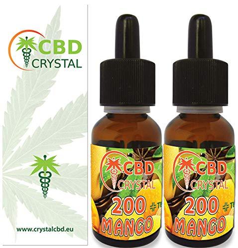 2X E-liquido CrystalCBD 200 Mango 20ml - Liquido Cigarrillo