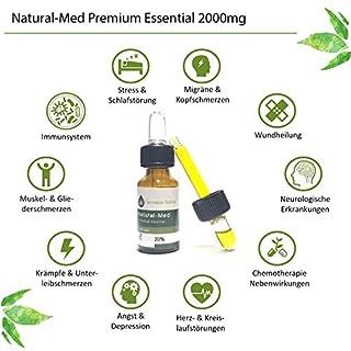 Natural-Med 20% Premium Essential oil C | B | D 10ml - CB1 und (CB2) D Aktivator Feuchtigkeitspflege