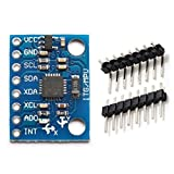 ARCELI GY-521 MPU6050 3 Achsen Beschleunigungsmesser Gyroskop Modul 6 DOF 6-Achsen Beschleunigungssensor Gyroskop Sensor Modul 16 Bit AD Wandler Datenausgang IIC für Arduino