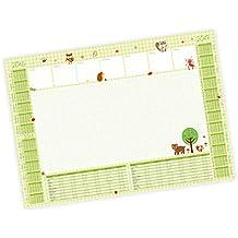 Papier Schreibtischunterlage 25 Blatt Waldfreunde grün mit Kalender 2016/17 + 2017/18 und Ferien