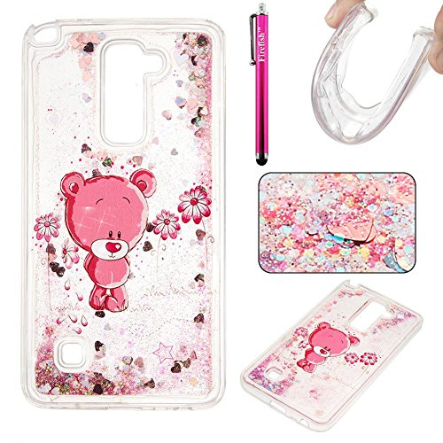 Price comparison product image LG Stylo 2 LS775 Case, Firefish Glitter Liquid Cover Slim Soft TPU Rubber Silicone Case Impact Resistant Durable Protective Case for LG Stylo 2 LS775 -S-Bear