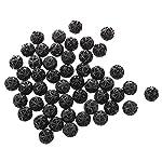 SODIAL(R) 50 Pcs 18mm Diameter Black Bio Balls for Aquarium Pond Filter 7