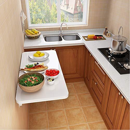 Wall-mounted folding table Wandklapptisch Wandtisch Wand Klapptisch, Küchentisch Kindermöbel Laptoptisch Esstisch Schreibtisch Klappkonsole(Weiß)