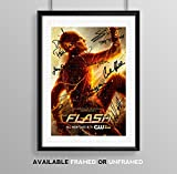 The Flash Cast Signed Autograph Signature Autographed A4 Poster Photo Print Photograph Artwork Wall Art Picture TV Show Series Season DVD Boxset Present Birthday Xmas Christmas (POSTER ONLY)