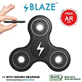 #9: BLAZE | BLACK - Fidget Hand Spinner, Ultra Fast Ceramic Bearings, Finger Toy, Great Gift for ADD, ADHD, Anxiety, Working Adults and Children