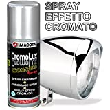 VERNICE SPRAY EFFETTO COLORE CROMO ! CROMATO CROMATURA PER TUTTE SUPERFICI 200ML Vernice multiuso Macota CromoLux