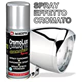 Lack Spray Effekt Farbe Chrom. Chrom Verchromung für alle Flächen 200ml LACK Mehrzweck macota Cromolux