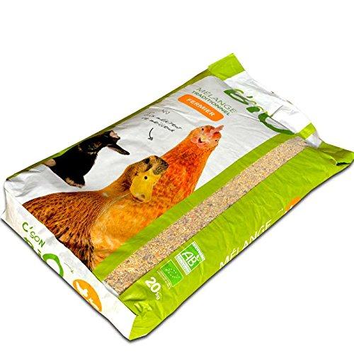 Agro Sens Mélange de Céréales Biologiques pour Basse Cour pour Poussin/Volaille Adulte 20 kg