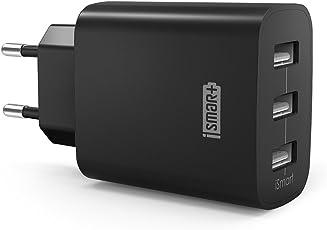 RAVPower USB Ladegerät 3-Port 30W 6A Ladeadapter mit iSmart Technologie für iPhone X XS XR XS Max 8 7 6 Plus, iPad Pro Air Mini, Galaxy S9 S8 Plus, LG, Huawei, HTC usw.