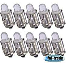10 unidades LED ba7s 12v blanco Hell velocímetro instrumentos iluminación luz lámpara auto bombillas