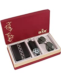 Axe Style Combo Of Analogue Watch,Wallet & Sunglass For Men's/Boy's (Set Of 3)-AXE-3503WWS