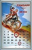 Blechschild Zündapp Moped Sozius Motorrad Magnet Kalender Retro Werbeschild Schild Nostalgieschild