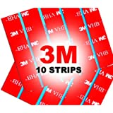 10 x Number Plate Sticky Pads, Adhesive Double Sided Sticky Pads Stickers, Car License Plates Fixings Strong Heavy Duty…