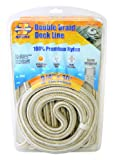 Invincible Marine 40-Foot Double Braid Nylon Dock Line, 3/4-Inches by 40-Feet, Gold