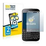 BROTECT Schutzfolie kompatibel mit BlackBerry Classic Q20 [2er Pack] - klarer Bildschirmschutz
