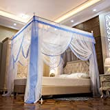 EVEN NATURALS MOSKITONETZ Doppelbett, großes Mückennetz für Bett, feinste Löcher, rechteckiger Netzvorhang Reise, Insektenschutz, 3 Einträge, einfache Anbringung, Keine...