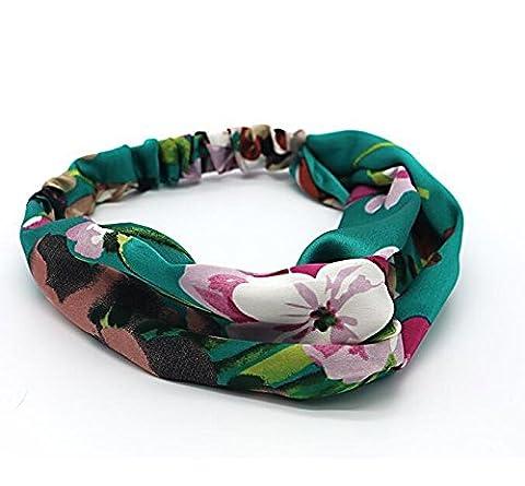 DUlijun Fleurs de géranium au printemps et en été la lettre conduit ornements faites par des bandeau élastique Satin soie , c