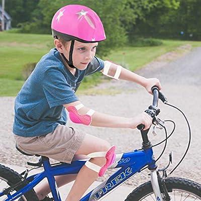 Xpzz-UK Kids Protective Gear Set,Adjustable Bike Helmet Knee Pads Elbow Pads Wrist Pads 7 in 1 Set for Roller Skating Skateboard BMX Scooter Cycling Boys Girls by Xpzz-UK