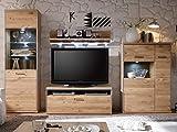 "Wohnwand Anbauwand Schrankwand Mediawand Wohnzimmerwand TV-Wand ""Medina I"" inklusive Beleuchtung"