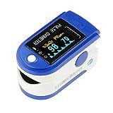 IDEALEBEN Finger Pulsoximeter Puls Monitor mit OLED Farbanzeiger und Zubehör: Hülle