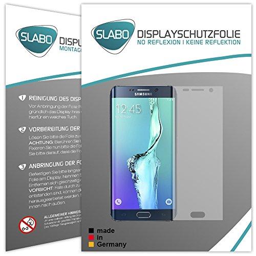 """4 x Slabo Film de protection d'écran Samsung Galaxy S6 Edge Plus protection écran film de protection film (la taille des films est réduite à cause d'un écran bombé) """"No Reflexion"""" MAT - anti-reflets MADE IN GERMANY"""