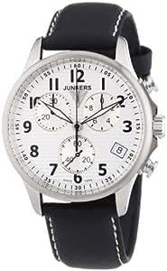 Junkers Herren-Armbanduhr XL Tante Ju Chronograph Quarz Leder 68901