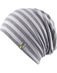 Bogota Hat - Trendy Bonnet long pour hommes et femmes 2013/2014 - Ski Snowboard Cap Hat, chapeau d'hiver, à tige souple (blanc / gris clair)