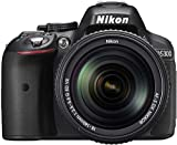 (Renewed) Nikon D5300 24.2MP Digital SLR Camera (Black) with 18-140mm VR Kit Lens, Card and Camera Bag