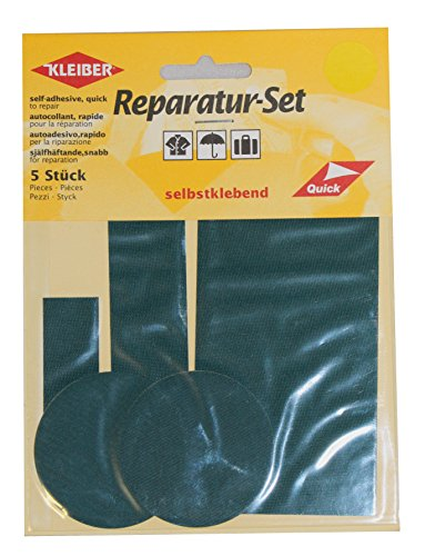 kleiber-5-pieces-set-patchs-autocollant-nylon-pour-reparer-vetements-vert