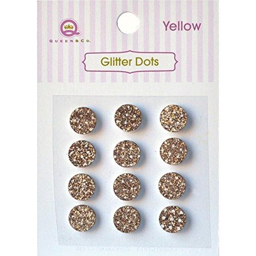 Queen und coqueen und Co Glitzer Punkte 8mm selbstklebend 1-yellow, andere, mehrfarbig