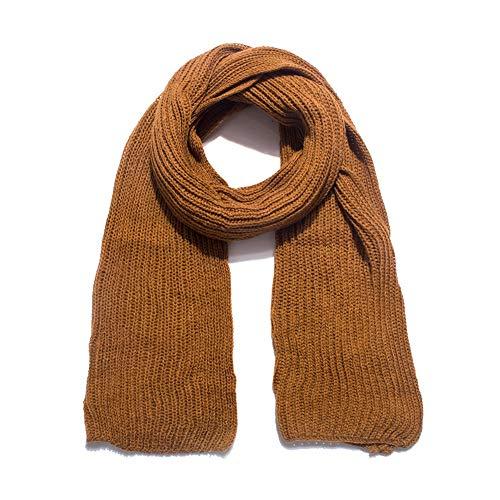 QIAOB Herbst und Winter Warm Acrylfasern Solid Farbe Wolle Couple Länge Schal Schal Schal,Brown