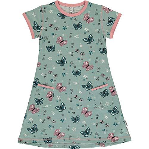 Maxomorra Kurzarm-Kleid Sommerkleid Tunikakleid mit Taschen Motiv (Schmetterling, 98/104)