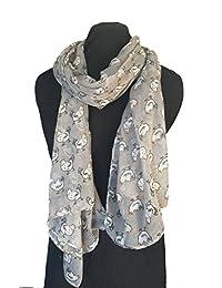 Grey cute chicken design ladies fashion scarf/ wrap