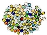 KAYKON Decorative Glass Pebbles vase fil...
