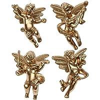 prettygood7 - Juego de 4 Colgantes de Navidad para árbol de Navidad, diseño de ángel