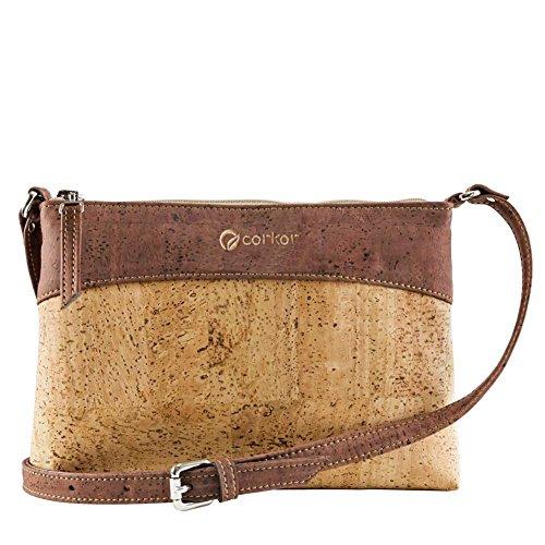 Crossbody Bag Women - Vegan Handbag Cross-Body - Cork Purse - Red Cork