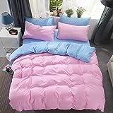 LLQDFH Einfarbige, Vierteilige, Einfache Bettdecke