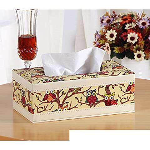 Página de inicio de caja del tejido cortical/Cajas de Kleenex/Sala caja servilleta mesa/Bandeja de coche creativo-B