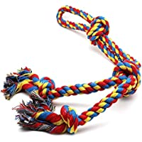 PSK PET MART Chew Rope Toys for Aggressive Chewers Rope Chew Toys for Large Medium Dogs Indestructible Tug of War Durable% Rope Toy.